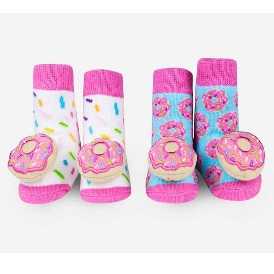 Donut Rattle Socks-Waddle-Joanna's Cuties