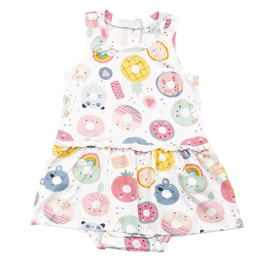 Donut Smiles Bodysuit With Skirt-Angel Dear-Joanna's Cuties