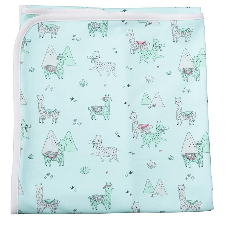 Double Layer Blanket Aqua Llamas-Noomie-joannas_cuties