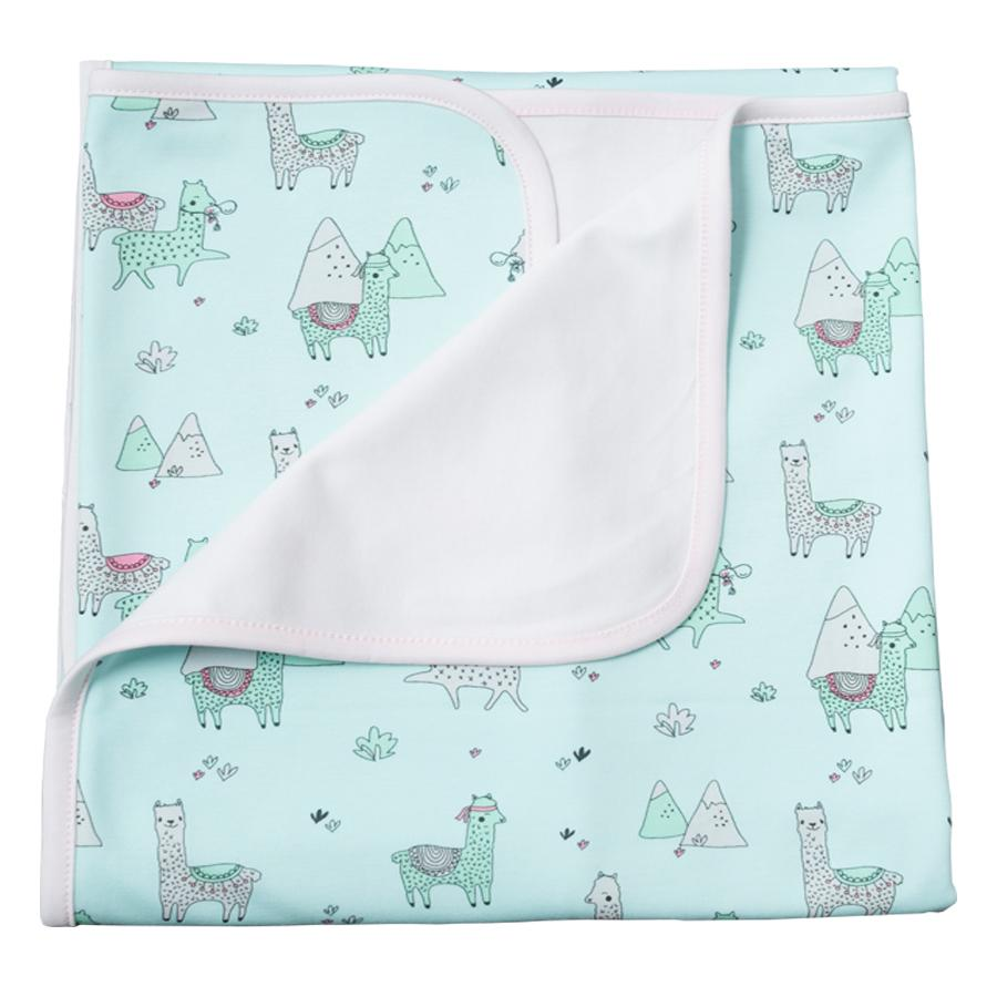 Double Layer Blanket Aqua Llamas - Noomie - joannas-cuties