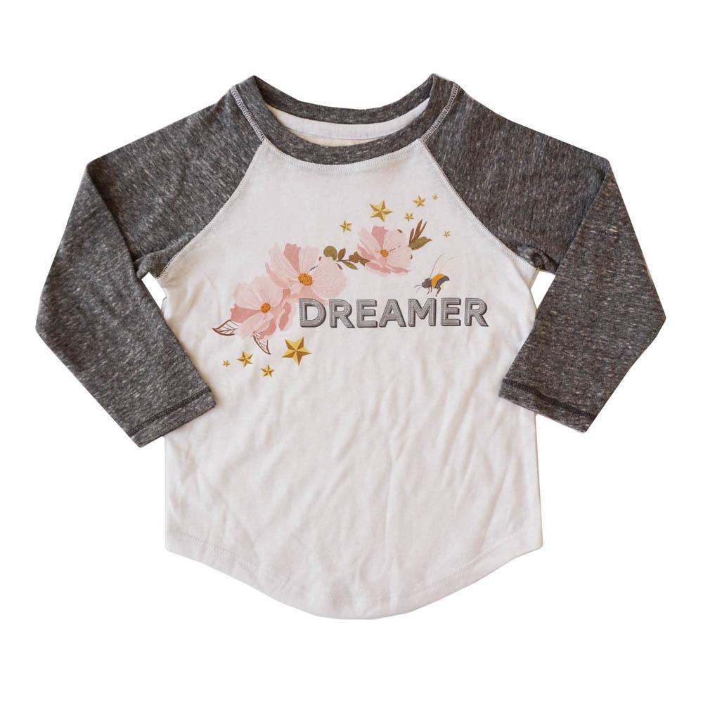 Dreamer Girls Long Sleeve Raglan - Miki Miette - joannas-cuties
