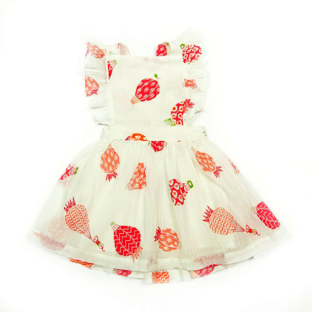 Dress Pinafore Hot Pink, Almirah - Joanna's Cuties