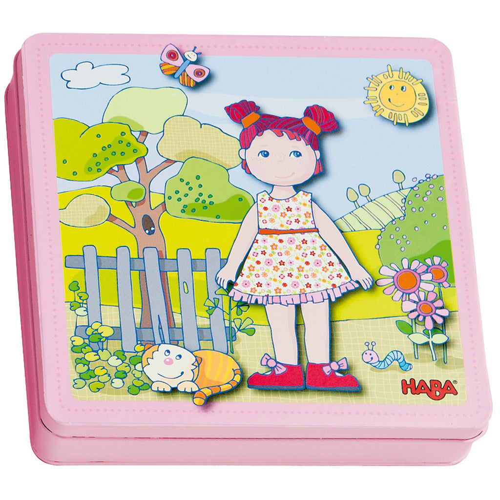Dress-Up Doll Lilli Magnetic Game, Haba - Joanna's Cuties