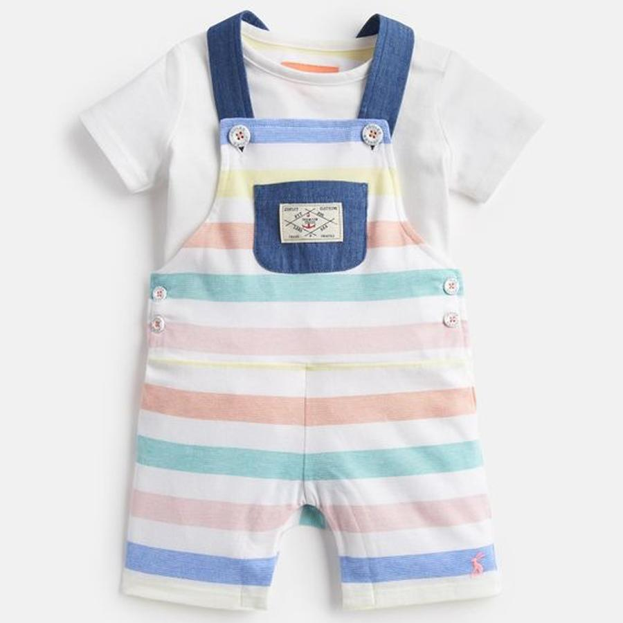 Duncan Jersey Ddungaree And Top Set - Joules - joannas-cuties