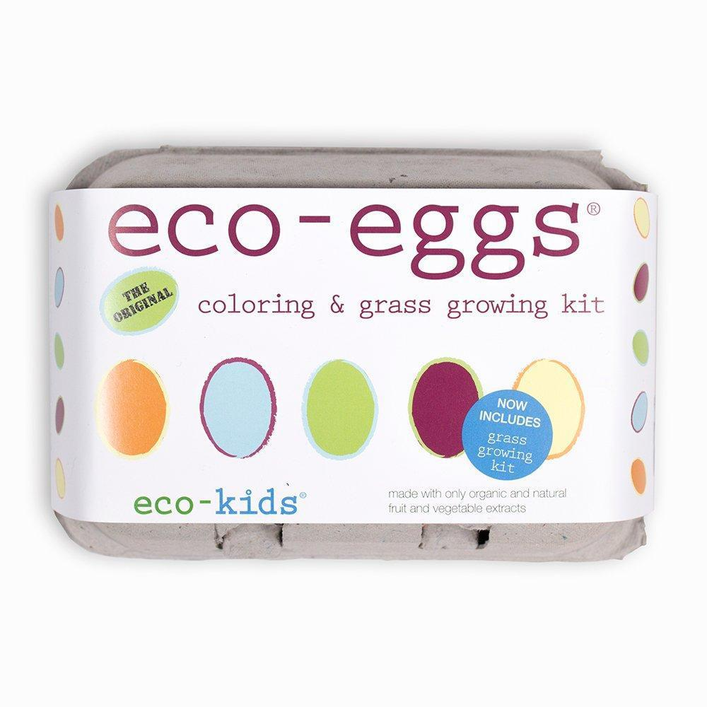 Eco-Egg Coloring And Grass Growing Kit - Eco-Kids - joannas-cuties