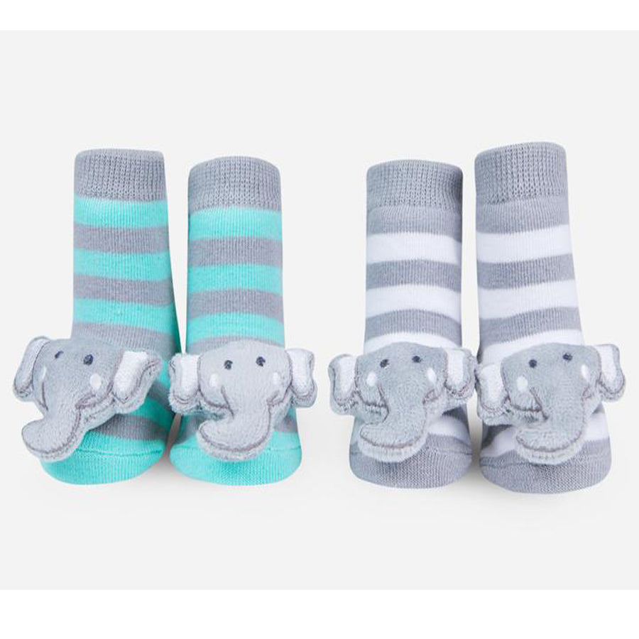 Elephant Rattle Socks-Waddle-Joanna's Cuties
