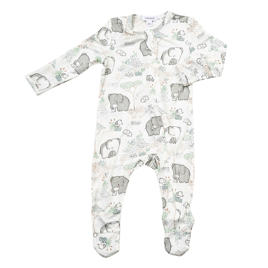 Elephants Zipper Footie-Angel Dear-Joanna's Cuties