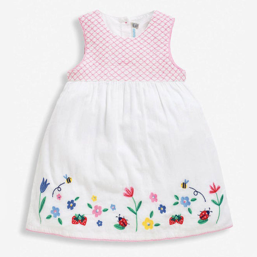 Embroidered Baby Dress with Knickers