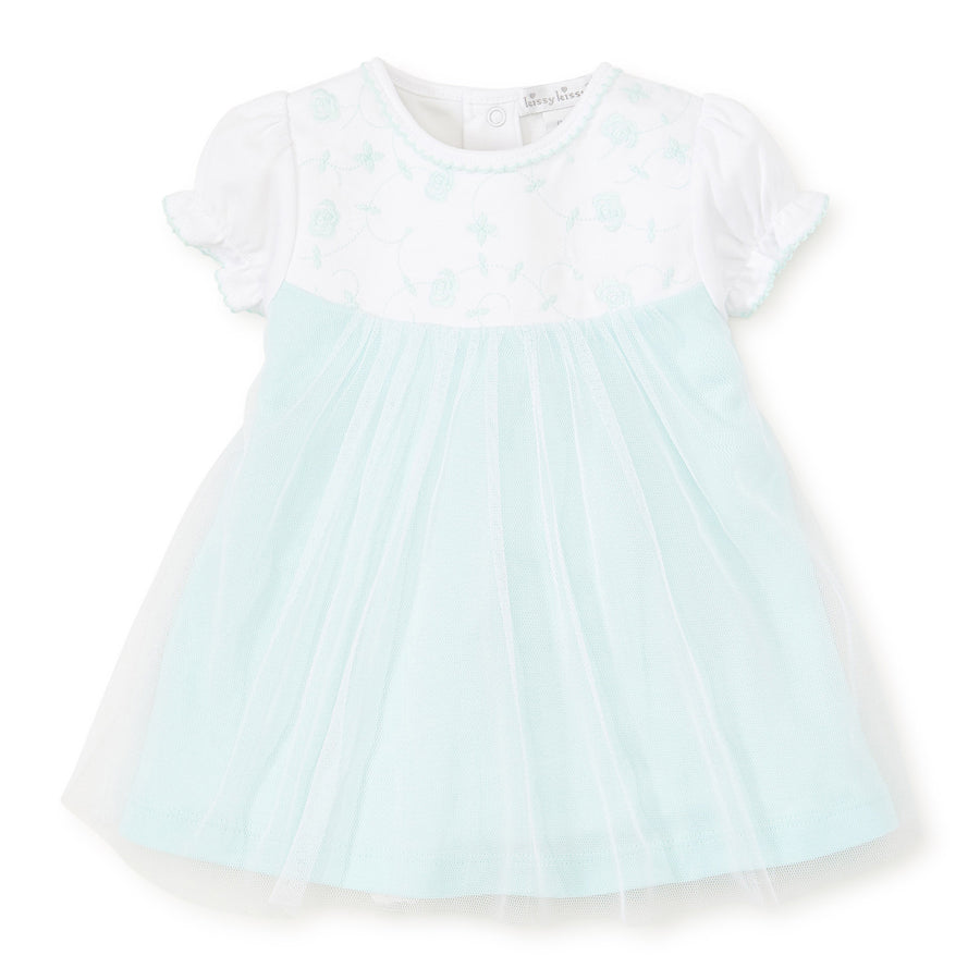 Embroidery Premier Dress Set With Bloomers - Mint - Kissy Kissy - joannas-cuties