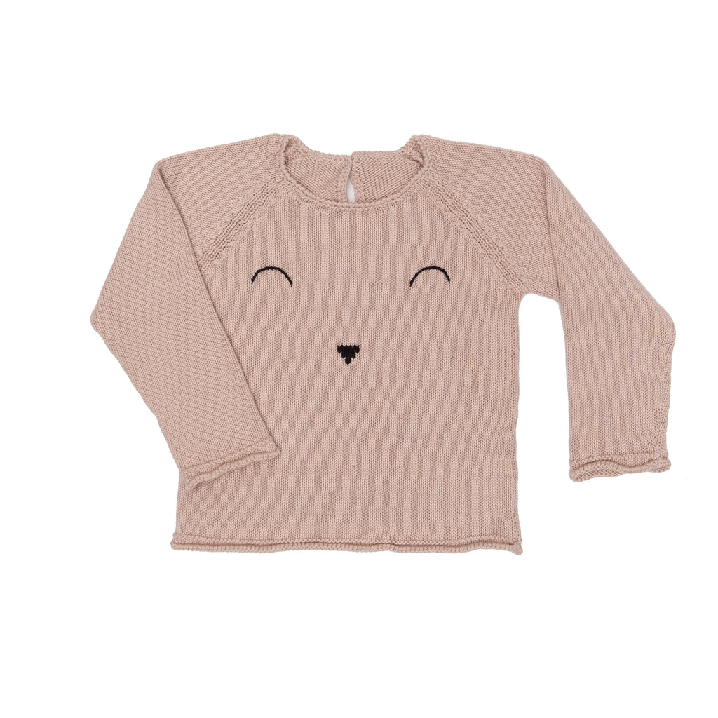 Face Sweater - Dustyrose - Tun Tun - joannas-cuties
