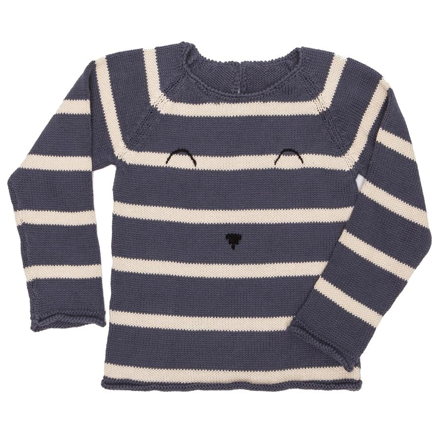 Face Sweater - Strip Blue-Tun Tun-Joanna's Cuties