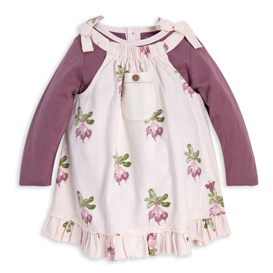 Farm Fresh Beets Organic Dress & Bodysuit Set - Burt's Bees Baby - joannas-cuties