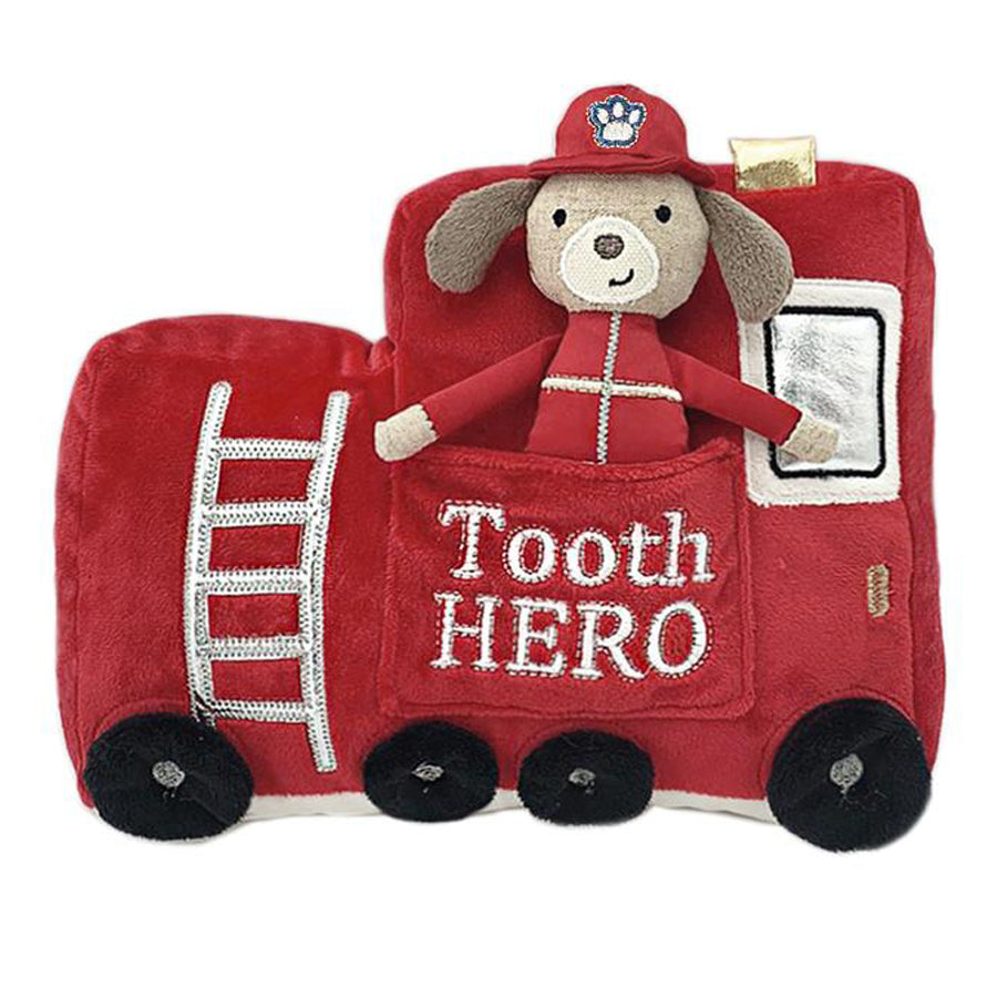 Fire Truck Tooth Hero Doll And Pillow Set-Mon Ami-Joanna's Cuties