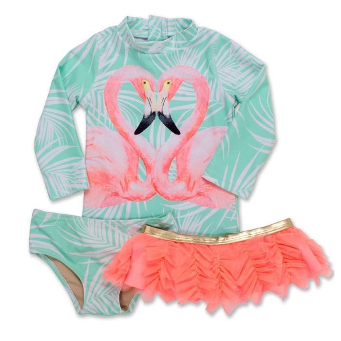 Flamazing 3 Piece Rashguard Set - Shade Critters - joannas-cuties