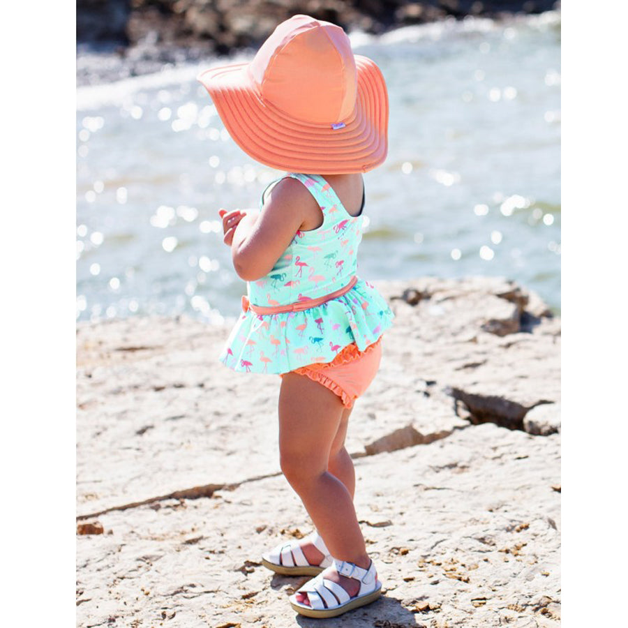 Flamingo Beach Skirted One Piece-Ruffle Butts-Joanna's Cuties