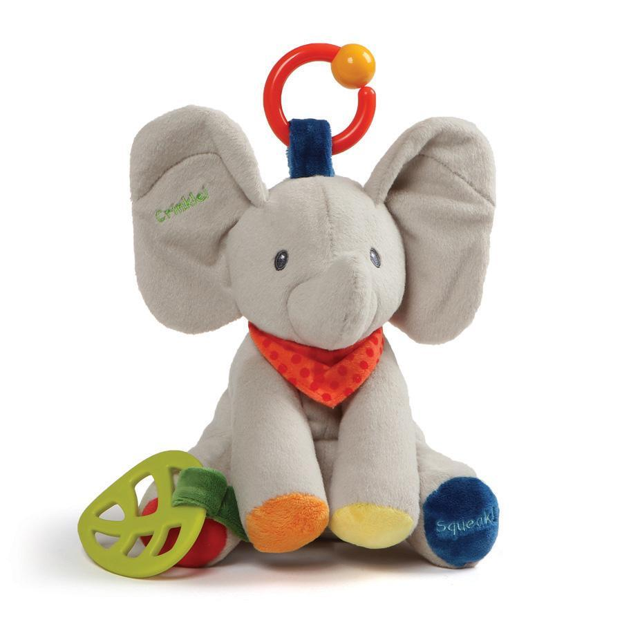 "Flappy Activity Toy, 8.5"" Grey - Gund - joannas-cuties"