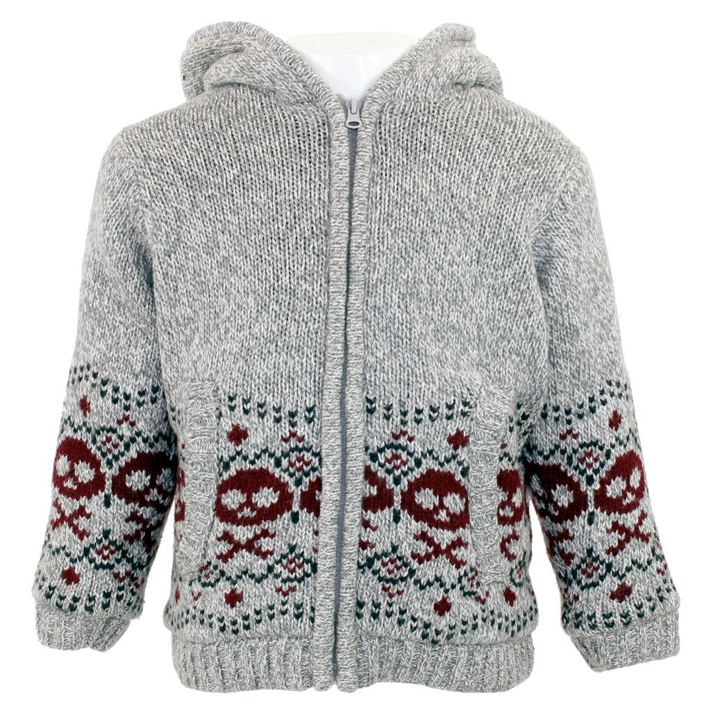 Fleece Lined Hooded Sweater-3 Pommes-Joanna's Cuties