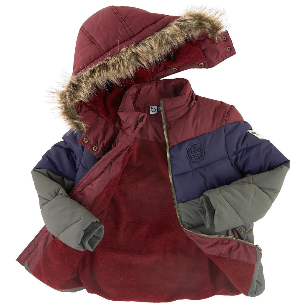 Fleece Lined Padded Jacket, 3 Pommes - Joanna's Cuties
