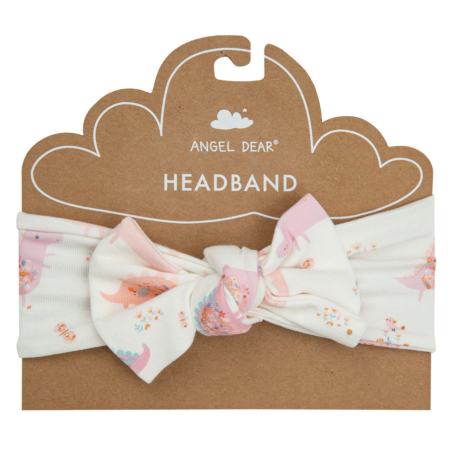 Floral Dinos Pink headband-Angel Dear-Joanna's Cuties
