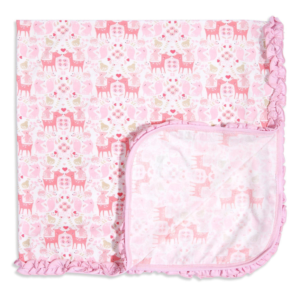 Flora and Fawna Modal Swaddle Blanket, Magnetic Me - Joanna's Cuties