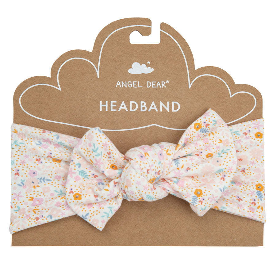 Floral Dinos headband-Angel Dear-Joanna's Cuties