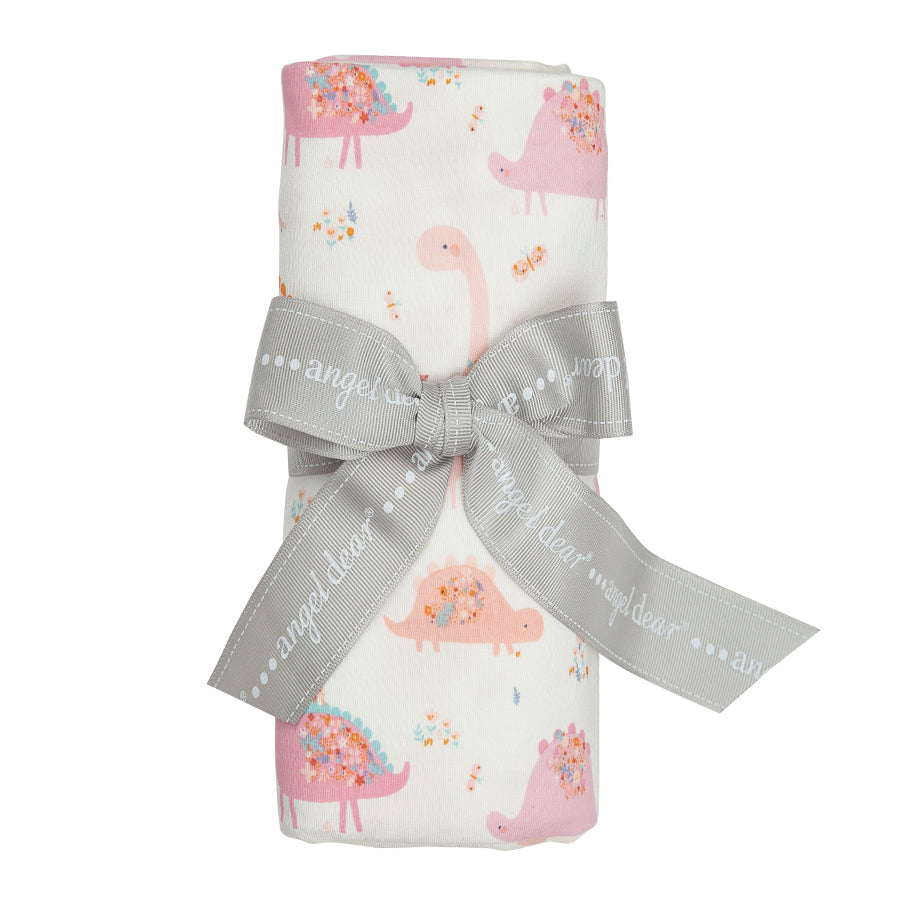 Floral Dinos Pink Swaddle Blanket-Angel Dear-Joanna's Cuties