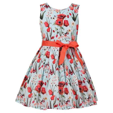 Floral Swoon Dress With Scallop Back, Bambiola - Joanna's Cuties