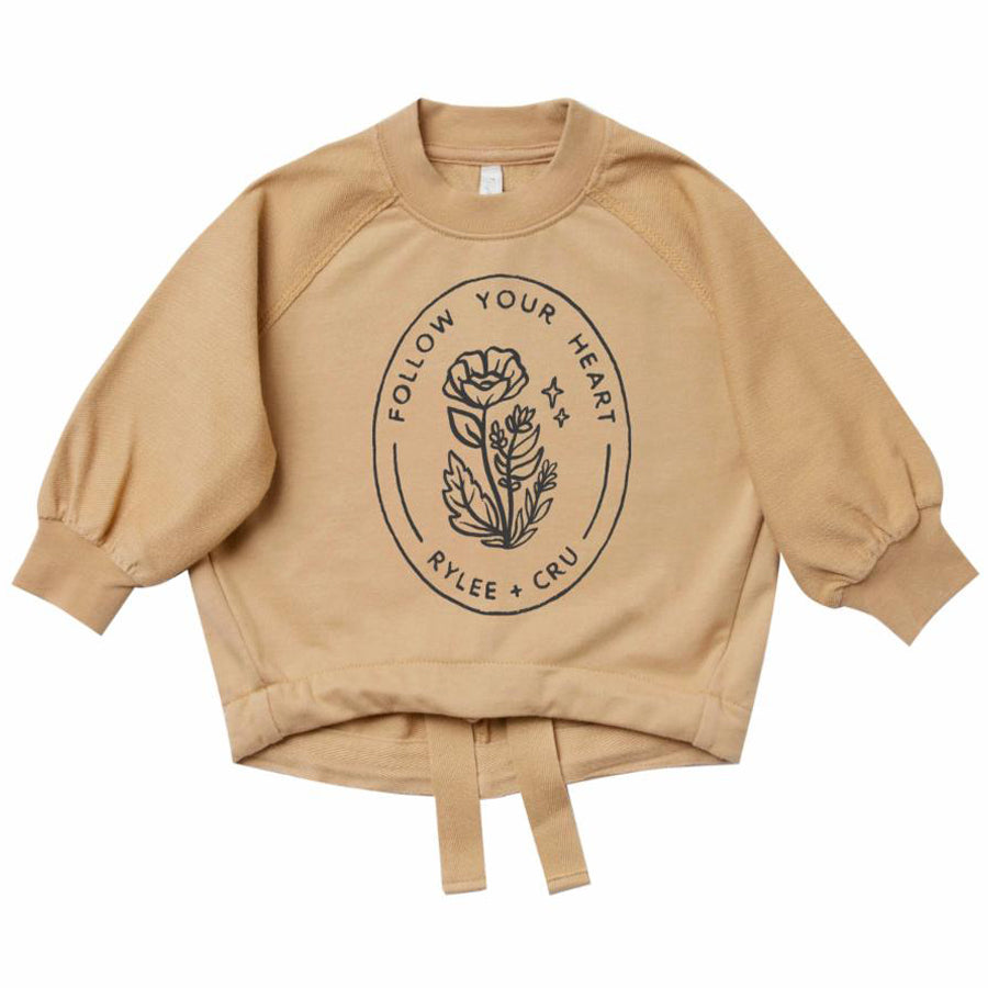 Follow Your Heart Cinched Sweatshirt, Rylee + Cru - Joanna's Cuties