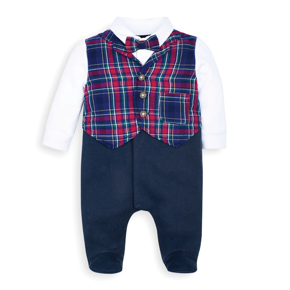 Formal Waistcoat One-Piece Baby Outfit - JoJo Maman Bebe - joannas-cuties