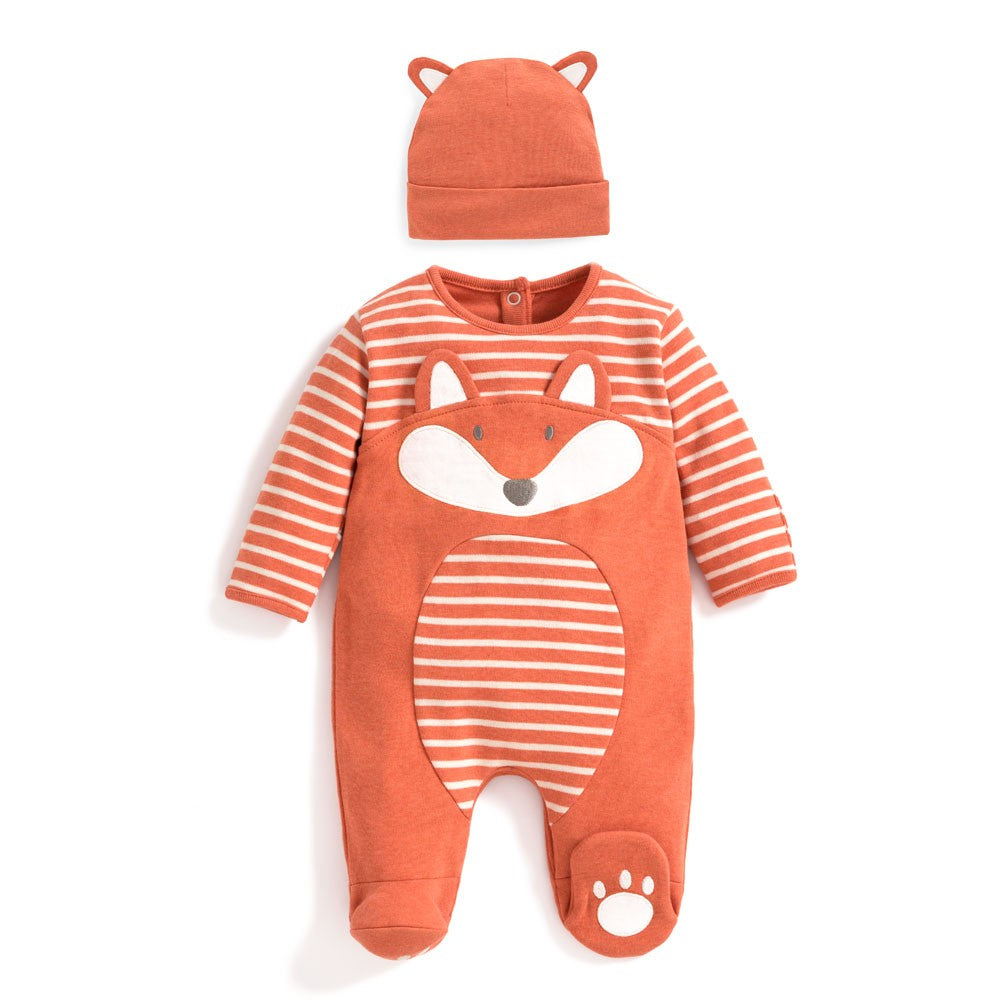 Fox Baby Footie & Hat Set - JoJo Maman Bebe - joannas-cuties