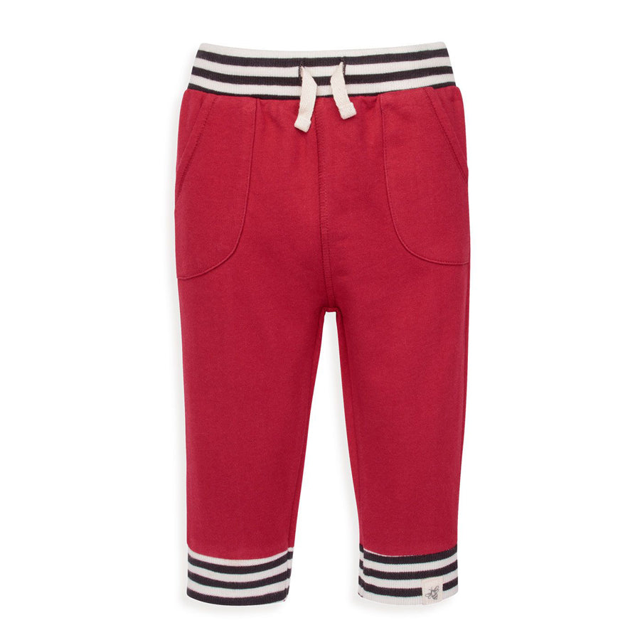 French Terry Striped Cuff Organic Jogger Pant - Burt's Bees Baby - joannas-cuties
