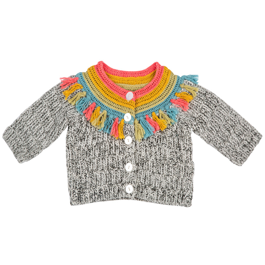 Fringe Rainbow York Sweater - Mimi & Maggie - joannas-cuties