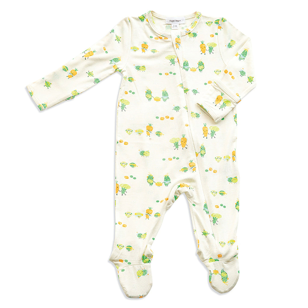 Frozen Veggies Zipper Footie - Angel Dear - joannas-cuties