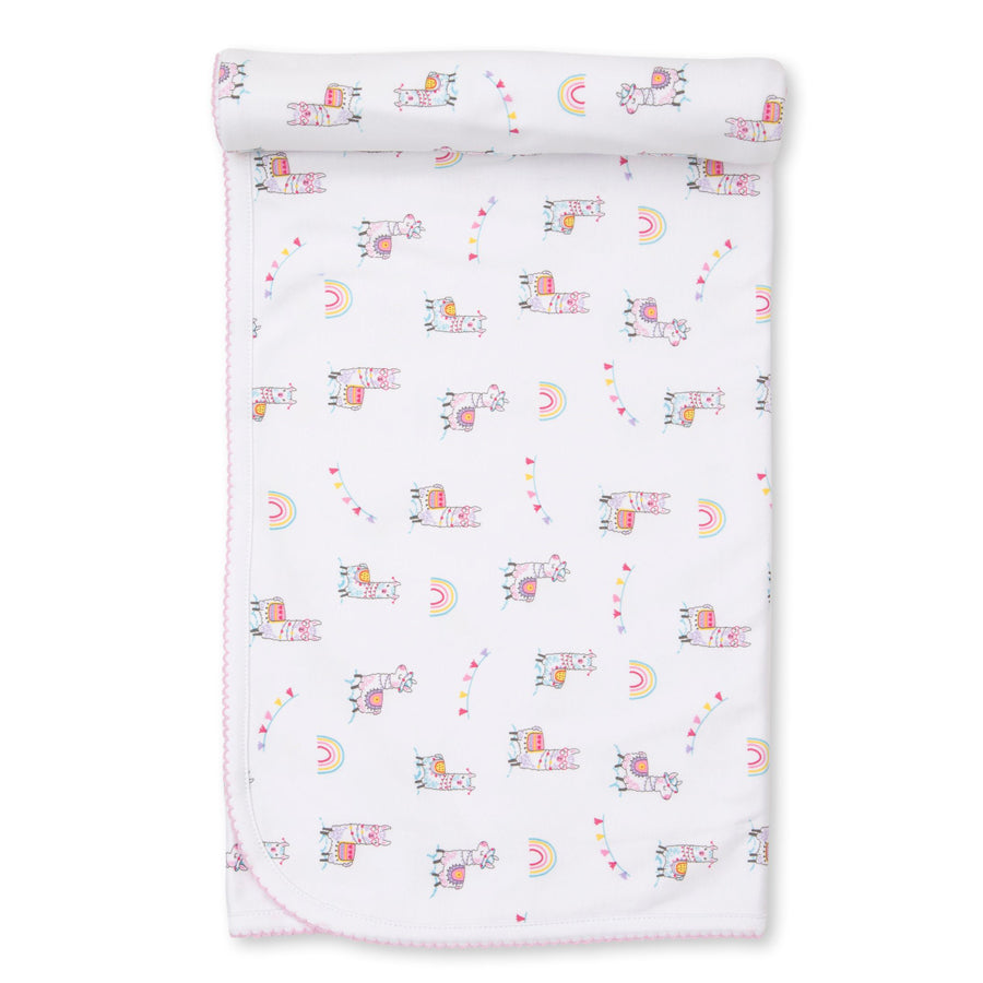 Fun Loving Llamas Swaddle Blanket-Kissy Kissy-Joanna's Cuties