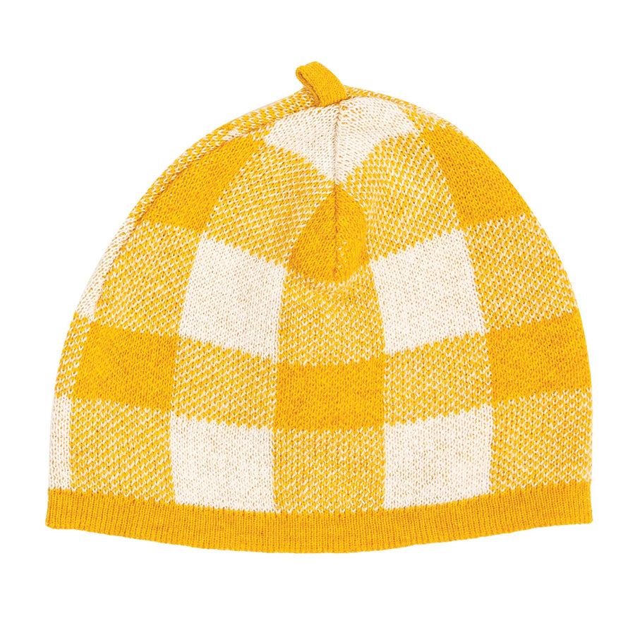 Gingham Beanie - Mustard-Angel Dear-Joanna's Cuties