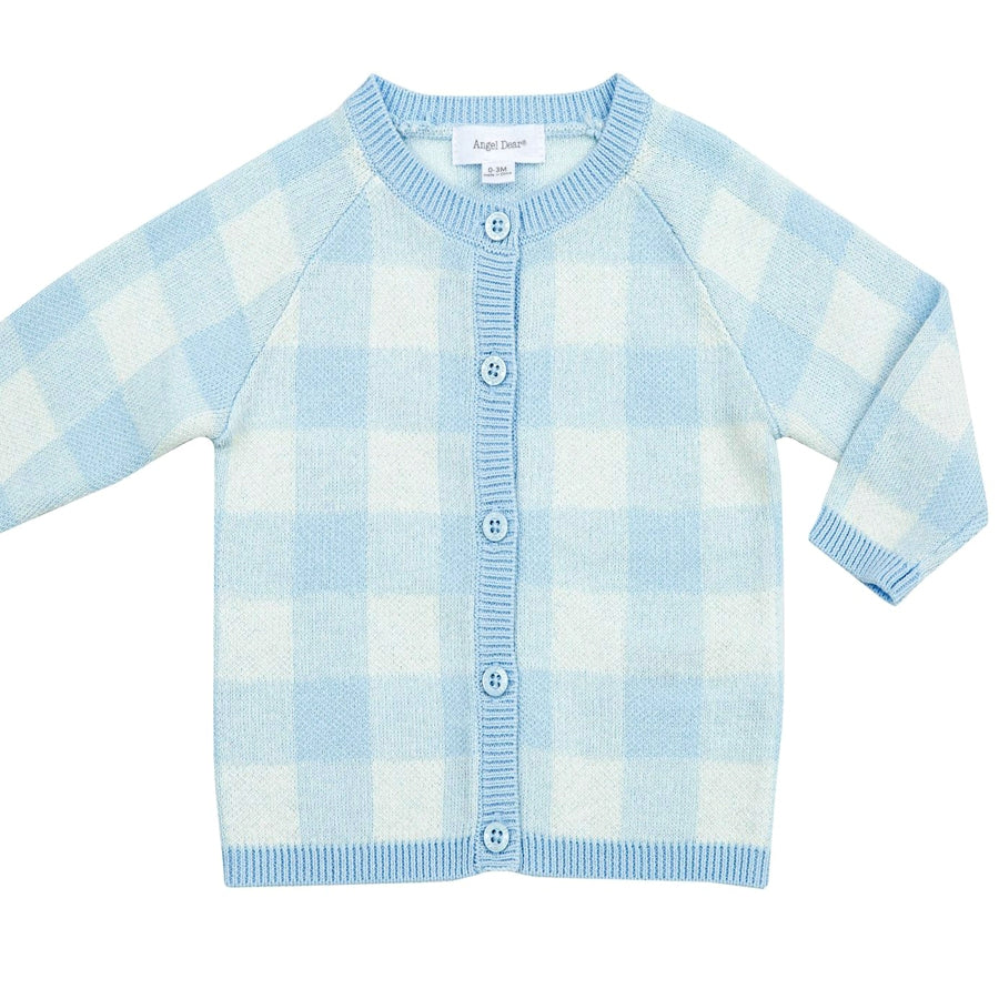 Gingham Cardigan - Blue-Angel Dear-Joanna's Cuties