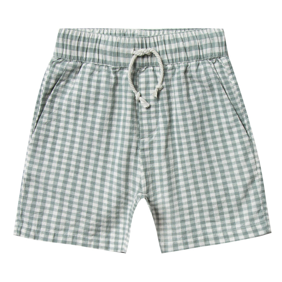 Gingham Drawstring Short-Rylee + Cru-Joanna's Cuties