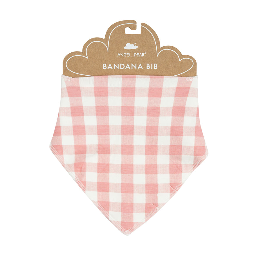Gingham Pink Bandana Bib-Angel Dear-Joanna's Cuties