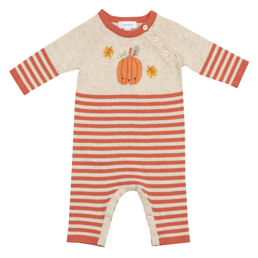 Gingham Pumpkin Coverall-Angel Dear-Joanna's Cuties
