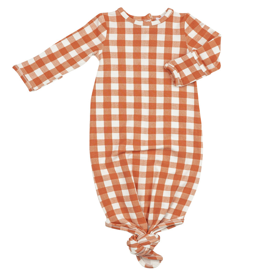 Gingham Pumpkin Gown-Angel Dear-Joanna's Cuties