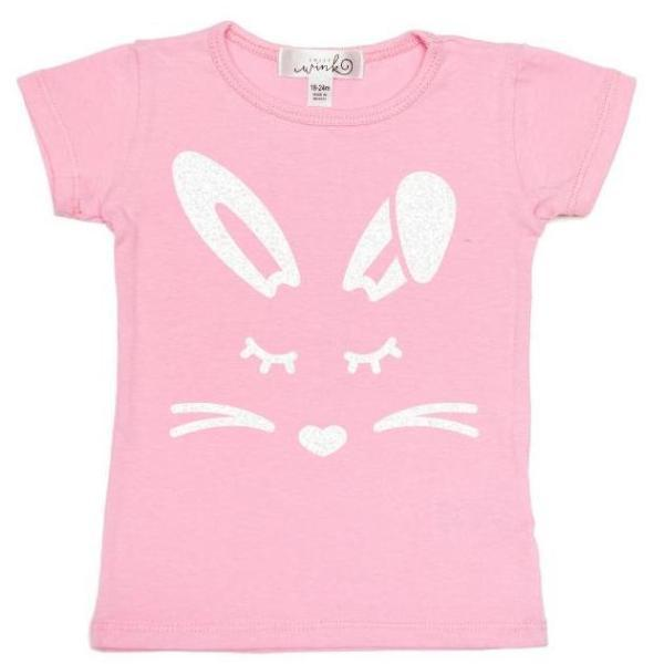 Girl Bunny S/S Shirt - Pink - Sweet Wink - joannas-cuties