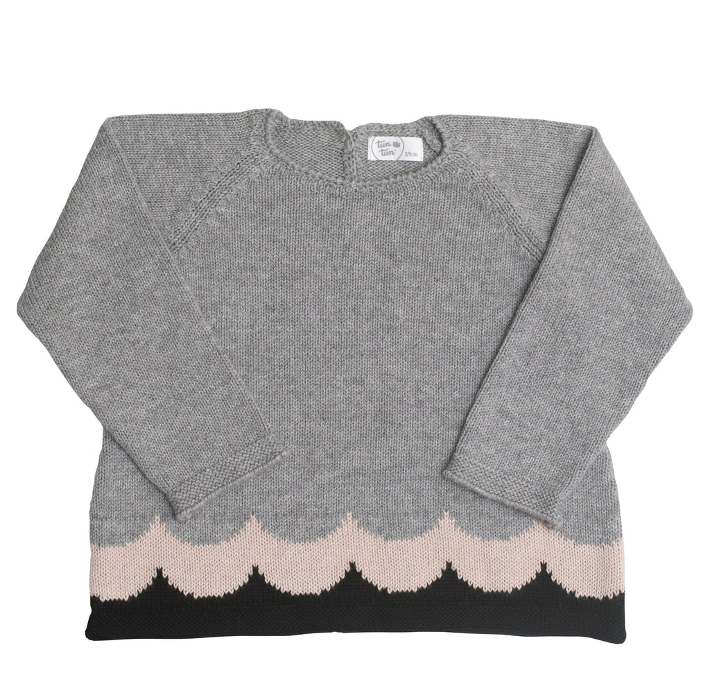 Girls Antonia Sweater - grey - Tun Tun - joannas-cuties