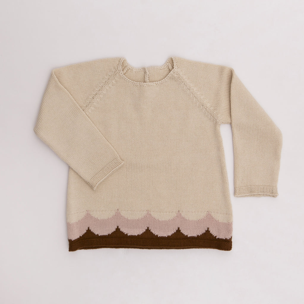Girls Antonia Sweater - Natural - Tun Tun - joannas-cuties