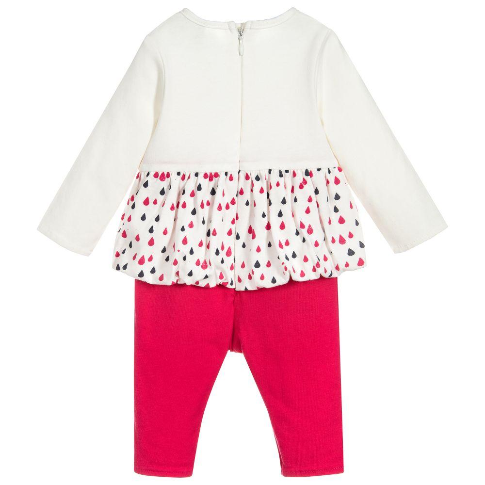 Girls Cotton Babygrow - 3 Pommes - joannas-cuties