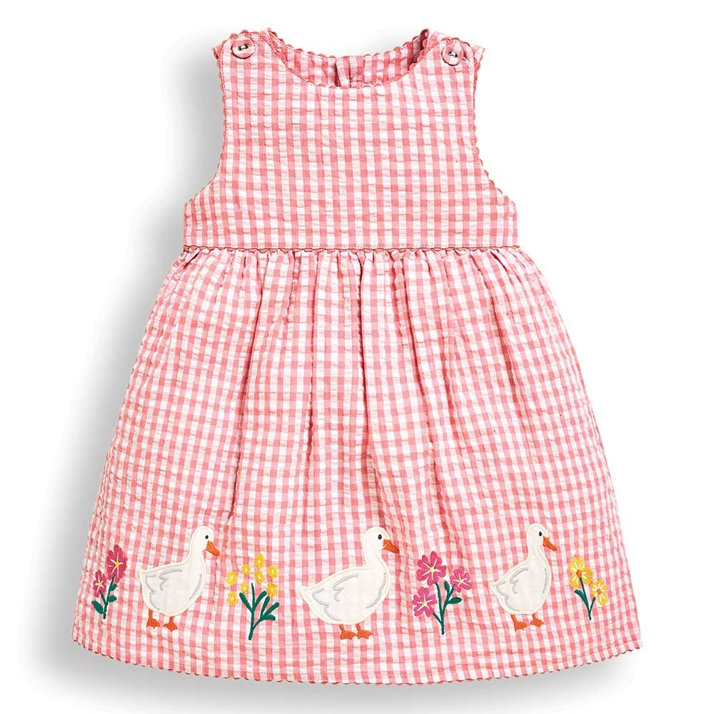 Girls' Duck Appliqué Dress-JoJo Maman Bebe-Joanna's Cuties