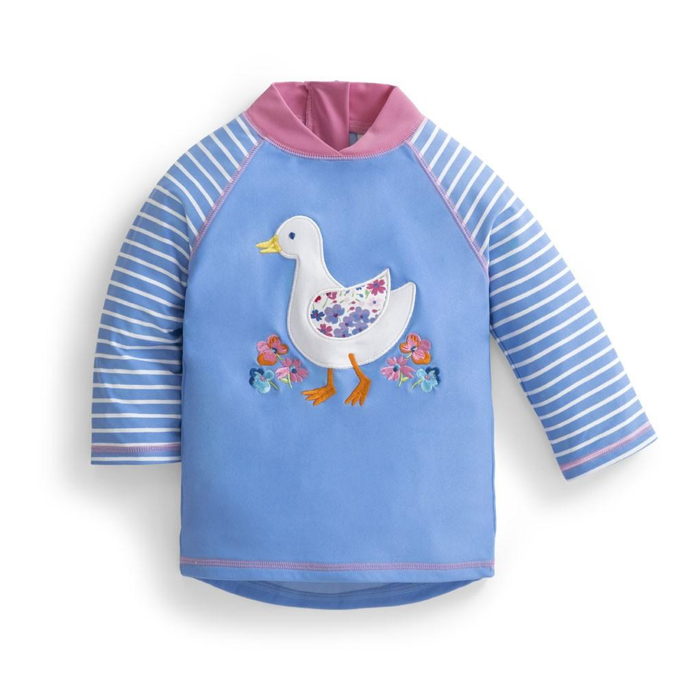Girls' Duck Sun Protection Rash Guard - JoJo Maman Bebe - joannas-cuties