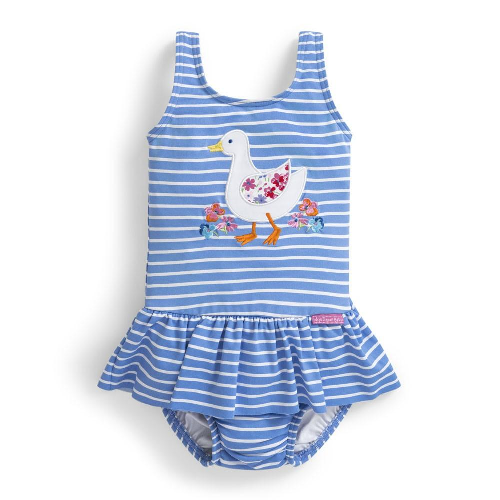 Girls' Duck Swimsuit with Diaper - JoJo Maman Bebe - joannas-cuties