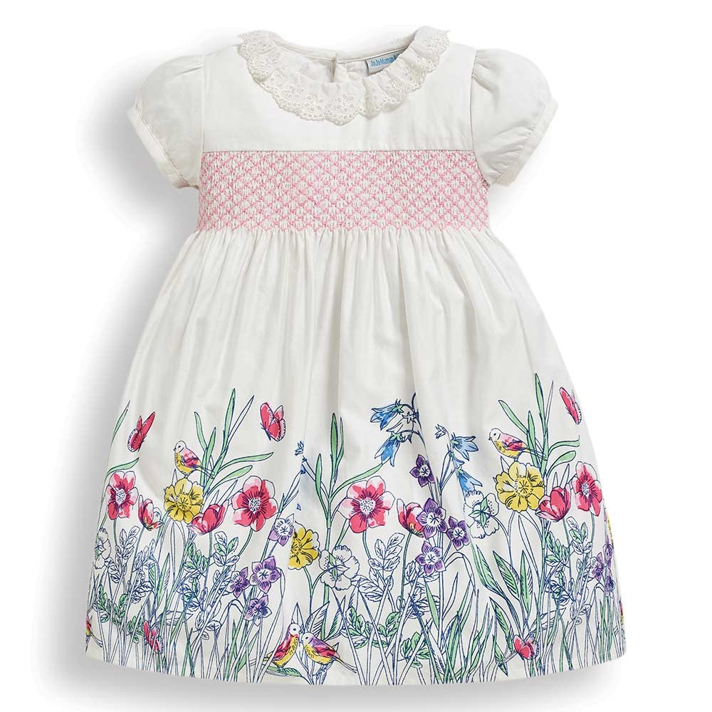 Girls' Meadow Frill Collar Party Dress-JoJo Maman Bebe-Joanna's Cuties