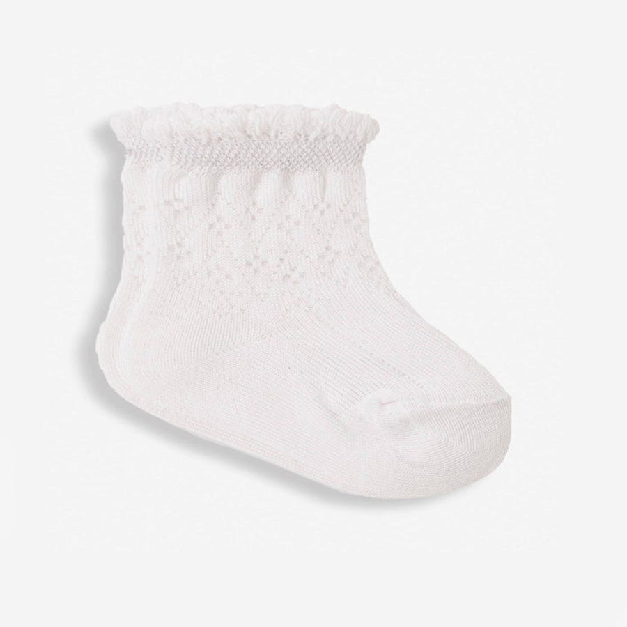3-Pack Pretty Pointelle Socks-JoJo Maman Bebe-Joanna's Cuties