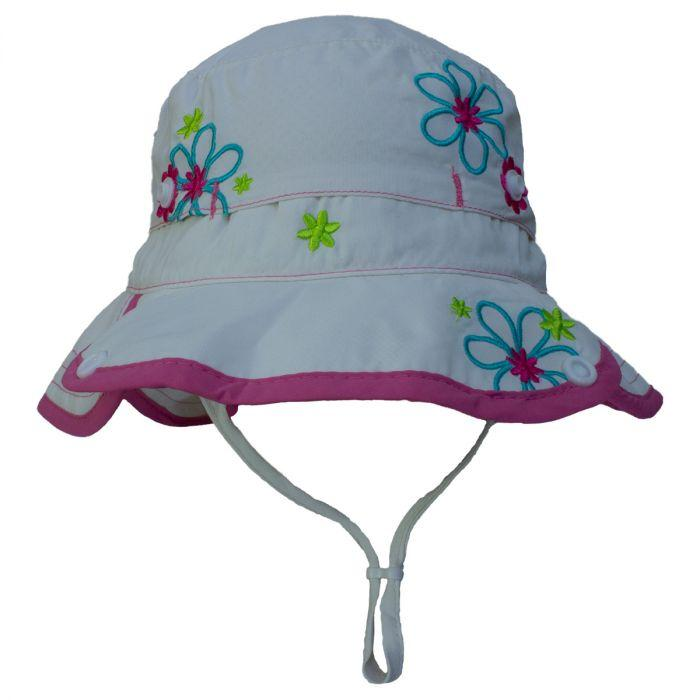 Girls UV 50+ Visor Hat - White, Calikids - Joanna's Cuties